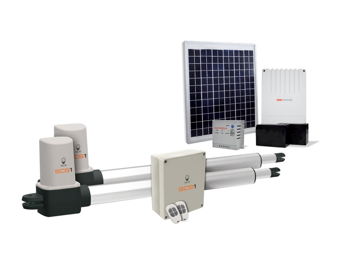motorisation solaire pour portail battant